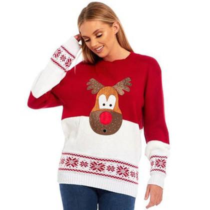 överraskad rudolf jultröja till henne