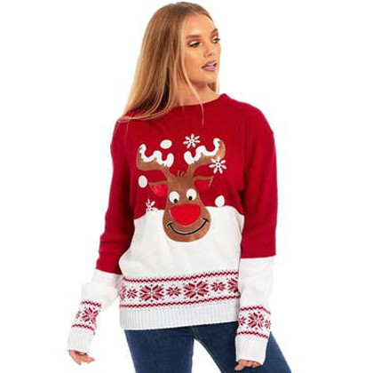 lycklig rudolf jultröja till henne