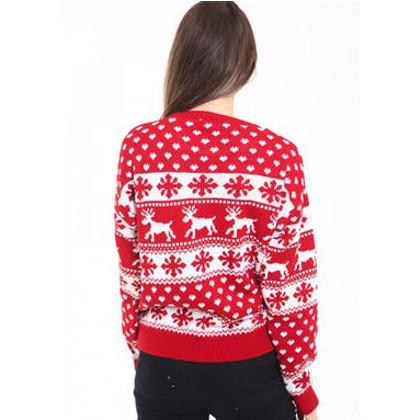 röd och vit jultröja baksida