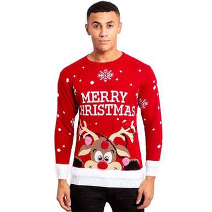 rudolf pom poms jultröja till man