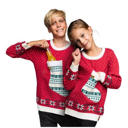 Jultröje-strumpa för barn