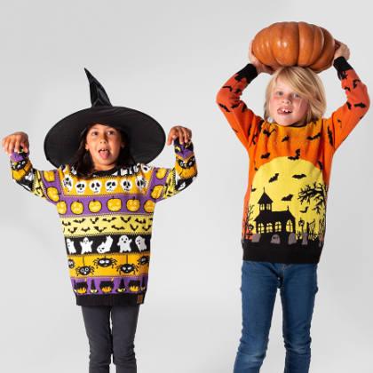 Kyrkogård Halloweentröja barn